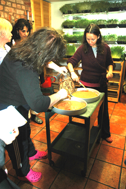 Making Flax Crackers in the Living Foods Kitchen
